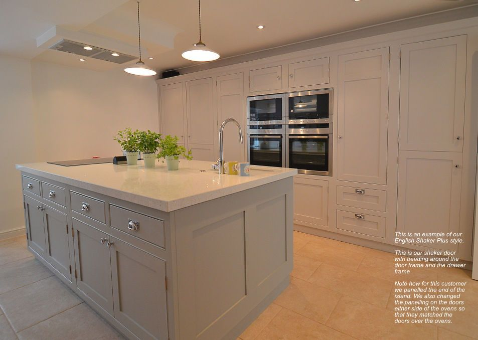 Grey Kitchen Island Made By Combining A Number Of Base Units