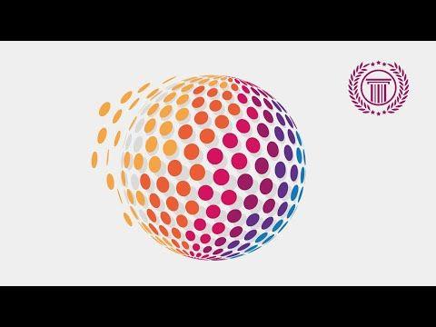 Circle Pixel Logo Design Tutorial Using 3D Revolve Effect ...