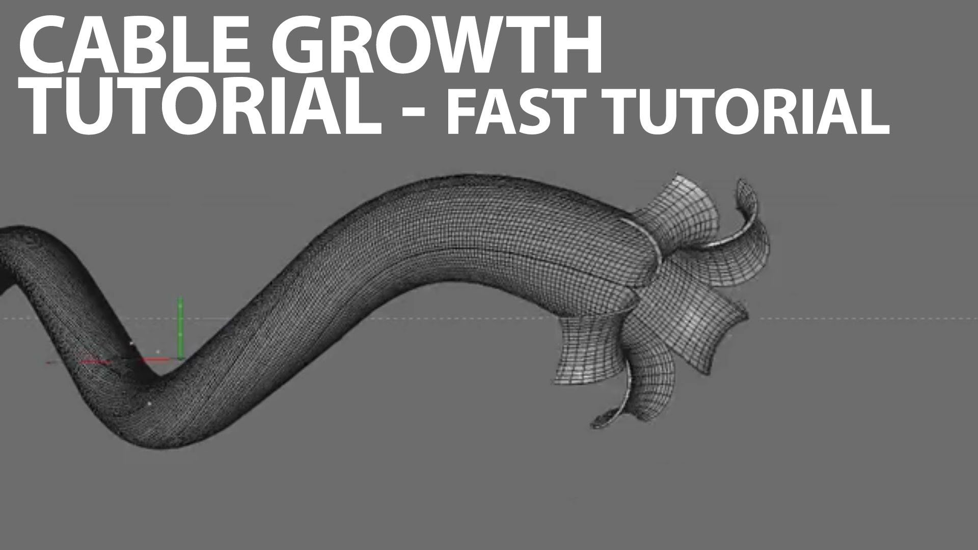 Cinema4D Tutorial: Paul Clements Style Cable Growth