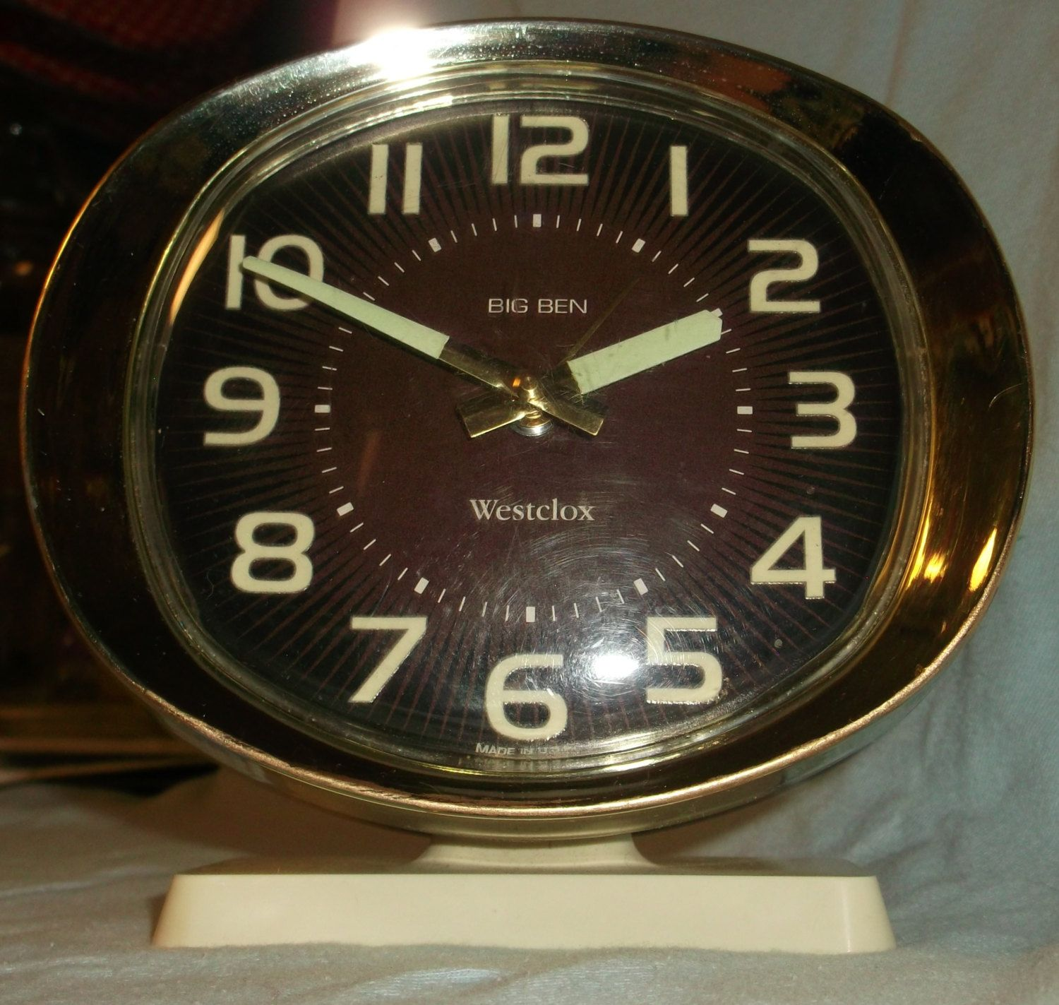 vintage westclox big ben wind up manual alarm clock glow in the dark rh pinterest com Color Color Changing Alarm Clock Atomic Atomic Clock Walmart