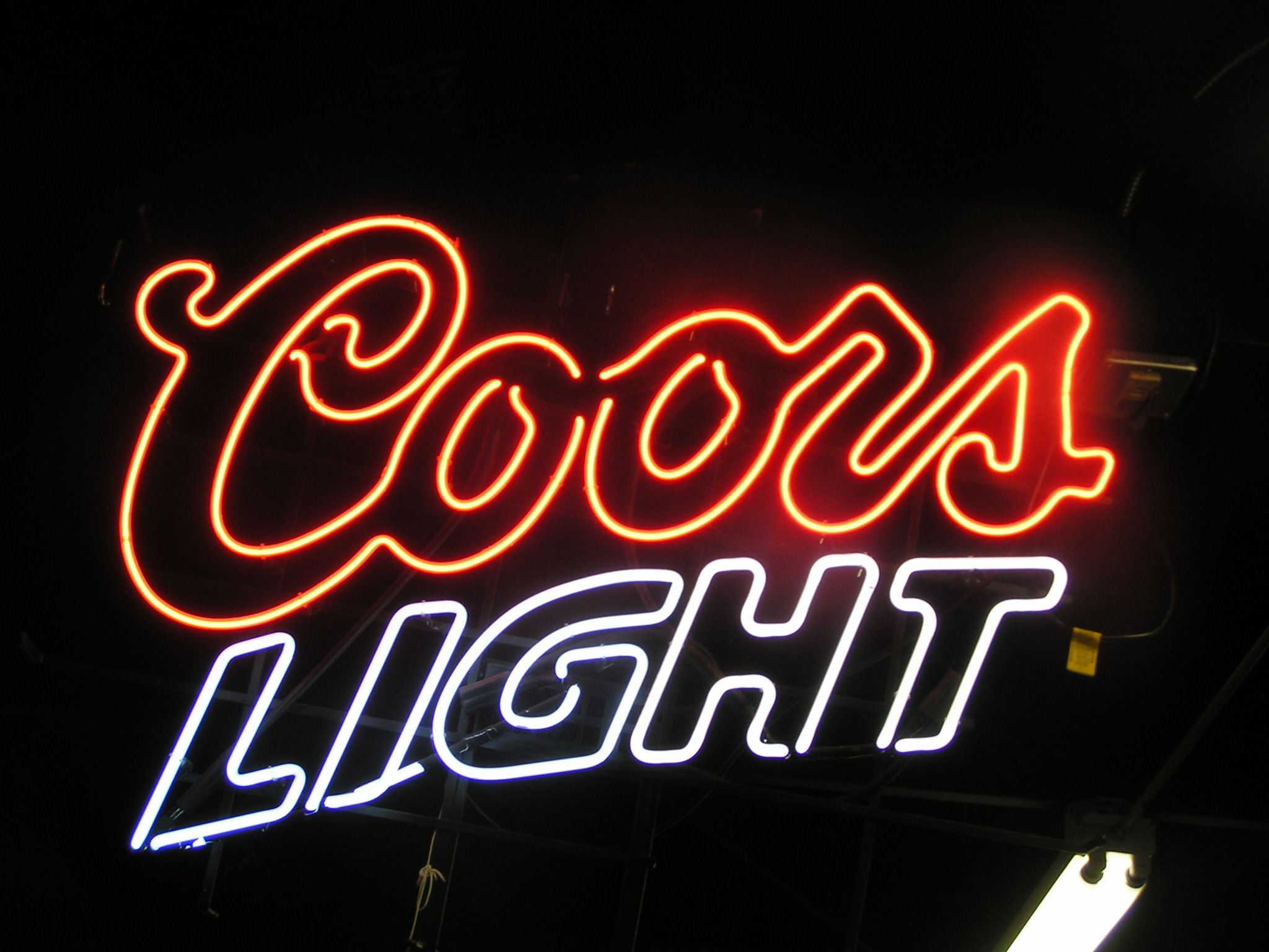 Coors Light Neon Beer Sign! Follow us on Facebook