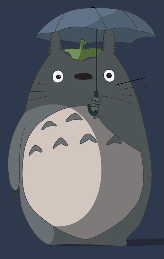 Totoro by naokua on DeviantArt