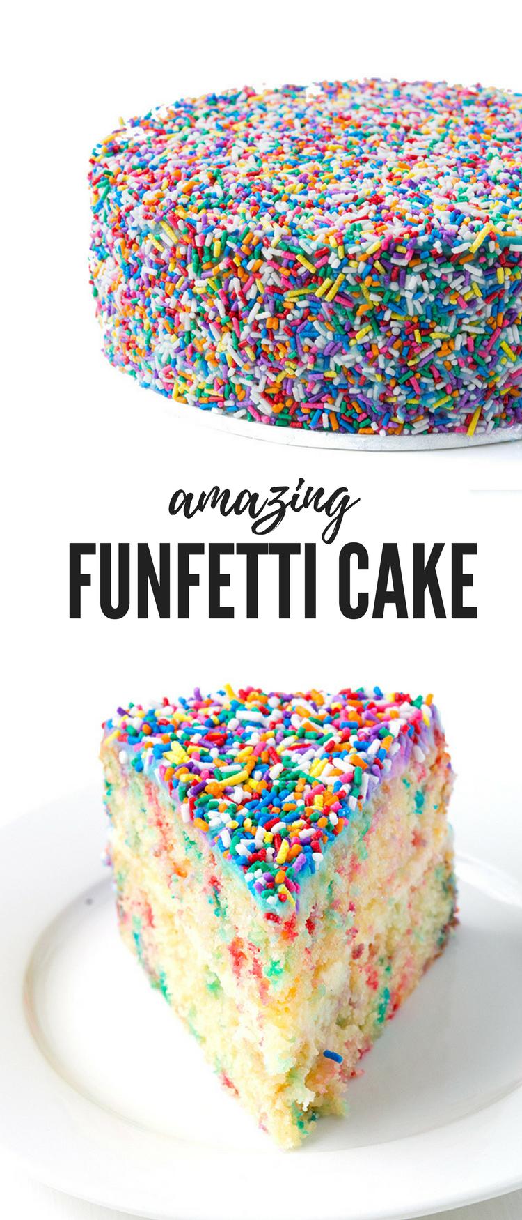 Marvelous Funfetti Vanilla Layer Cake Recipe Cake Cake Recipes Cake Funny Birthday Cards Online Elaedamsfinfo