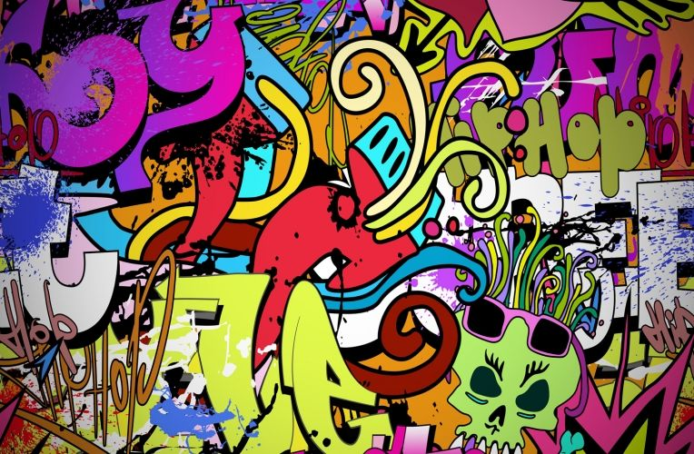 Funky Wall Art Wallpaper Wall Mural MuralsWallpapercouk Wall