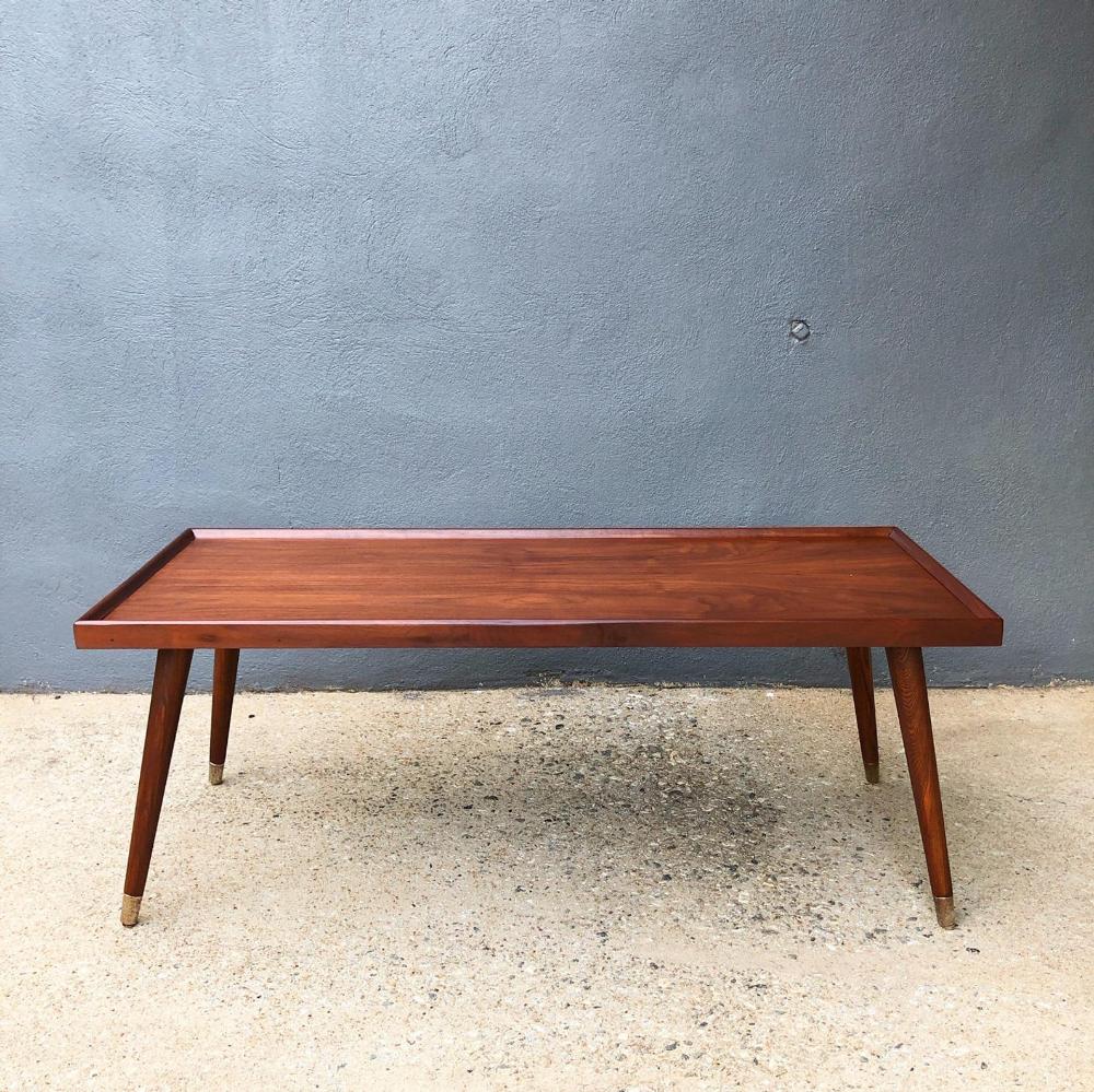 Walnut Mid Century Modern Coffee Table Newly Refinished Read Etsy Mid Century Modern Coffee Table Modern Coffee Tables Coffee Table [ 999 x 1000 Pixel ]