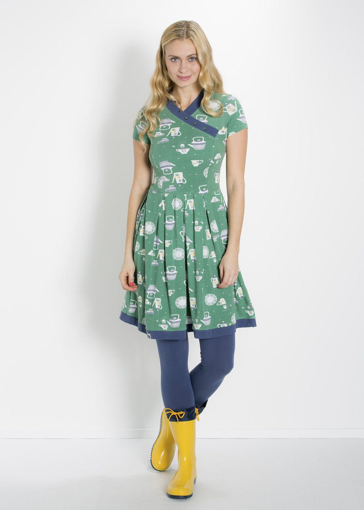 asian infusion dress, teatime darling, Kleid, Grün | Kleid ...