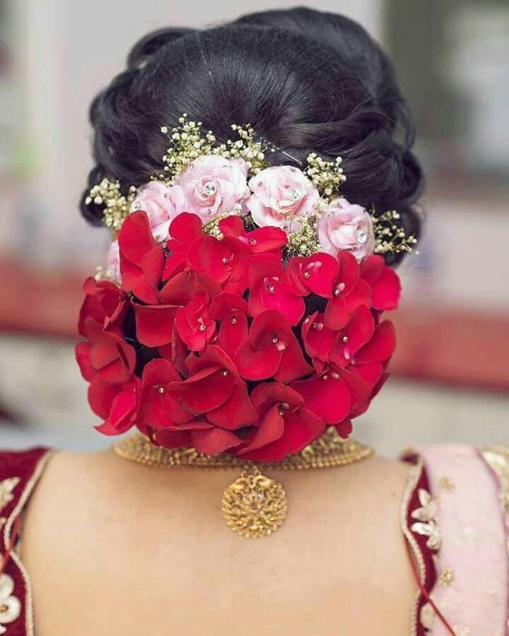 Pinterest Cutipieanu Flowers In Hair Bridal Hairdo Bun Hairstyles