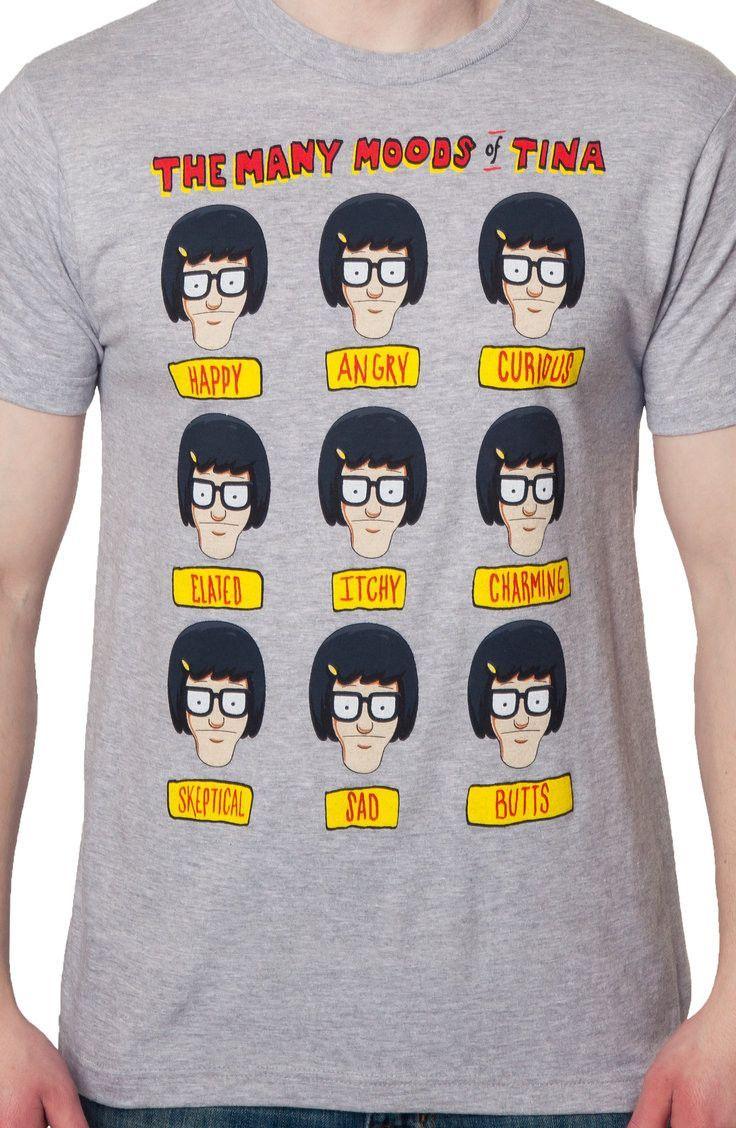 253e1129 Moods Of Tina Bobs Burgers T-Shirt: Cartoons Bobs Burgers T-shirt ...