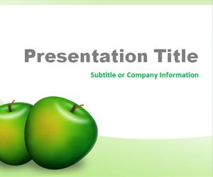 green apples powerpoint template is a free ppt template slide, Presentation templates