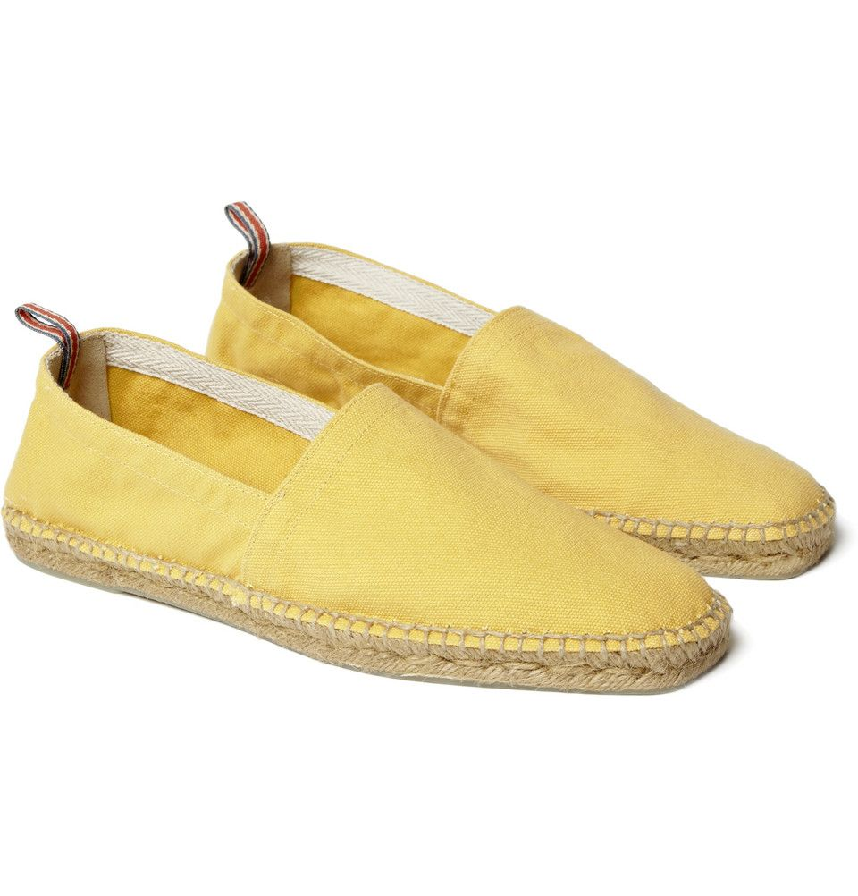 Canvas espadrilles, yellow