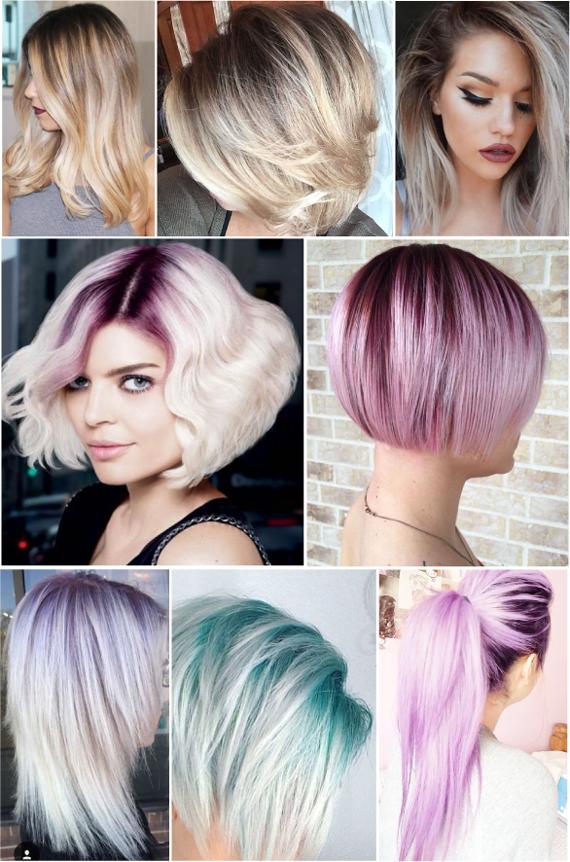 Покраска корней волос