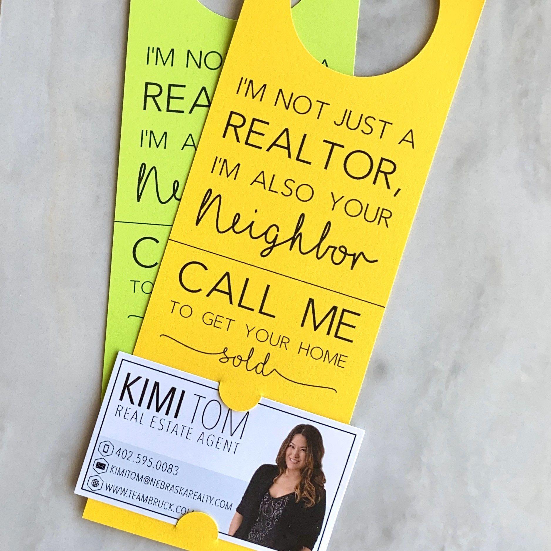I'm not just a Real Estate Agent Door Hanger Tags | Real Estate Agents | Door to Door Canvasing| Promotional Business Cards | Door Hang Tags