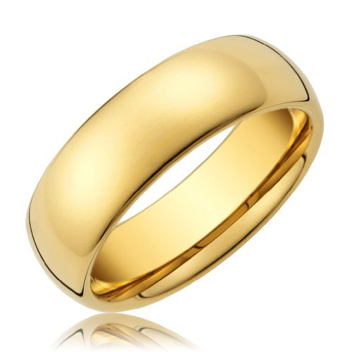 8mm mens tungsten carbide gold wedding band ring available in sizes 8 to - Mens Wedding Rings Gold