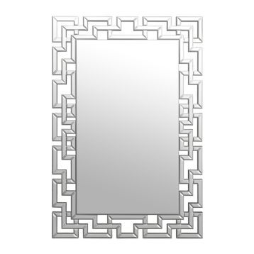 Gemma Lattice Framed Mirror 31 5x47 5 In Lighted Wall