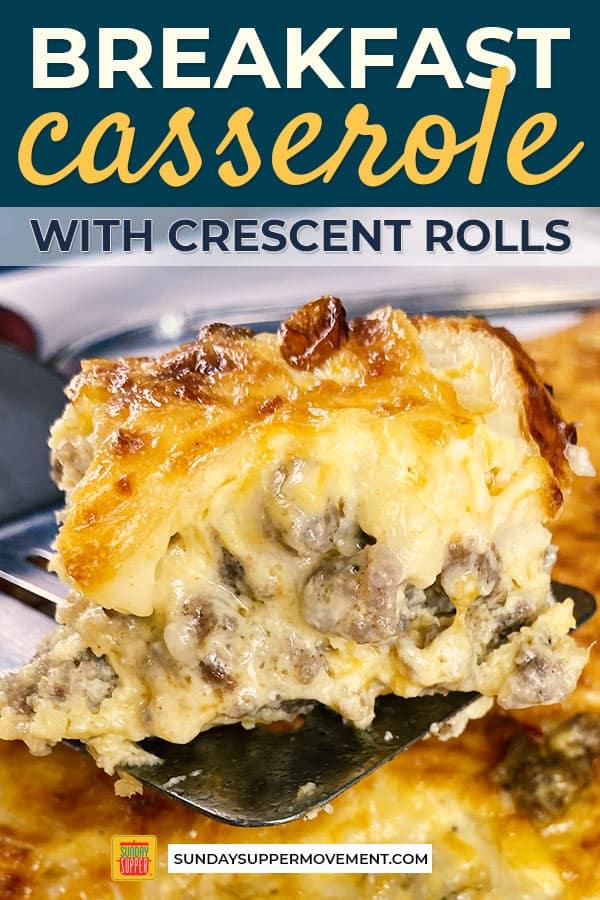 Sausage Breakfast Casserole w/Crescent Rolls #Sund