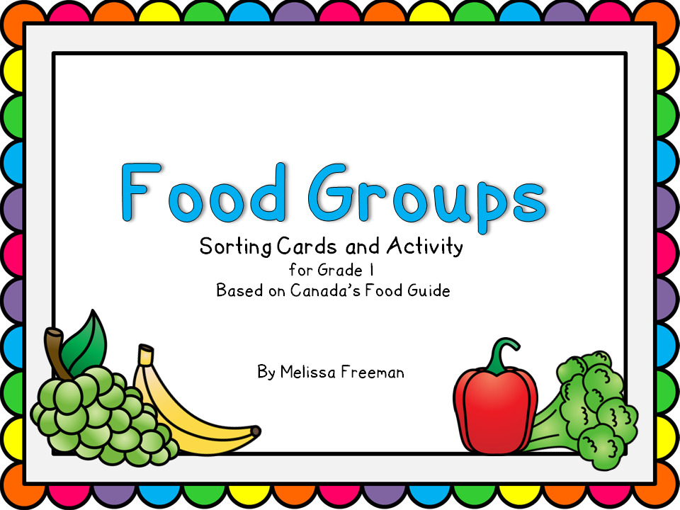 Students Can Sort Food Into The Four Food Groups Using These Food Cards And Group Labels There Is A Cut And Paste Activity And A Word Search Included
