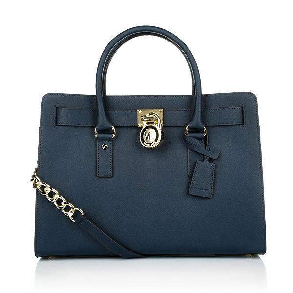 michael kors tasche hamilton lg ew satchel navy in blau aus rh pinterest com