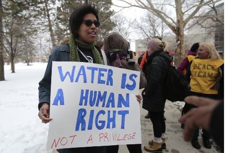 Water Is A Human Right Not A Privilege Flint Water Crisis Flint Water Water Crisis