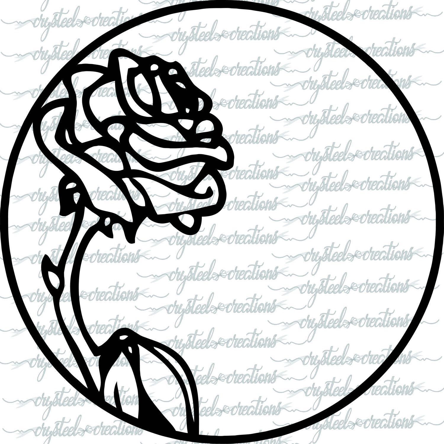 Rose SVG, PNG, Monogram Frame, Flower Frame, Rose Frame, Princess ...