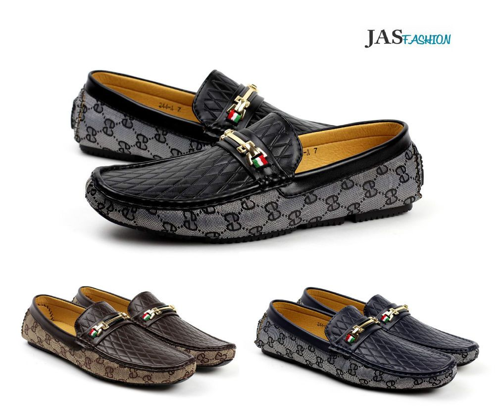 600b8b33adb3 Mens Slip On Designer Loafers Driving Shoes Casual Moccasin JAS Fashion  Size UK