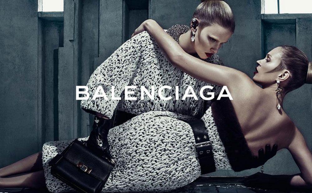 Fijne combinatie: Kate Moss, Lara Stone & Balenciaga - Beau Monde