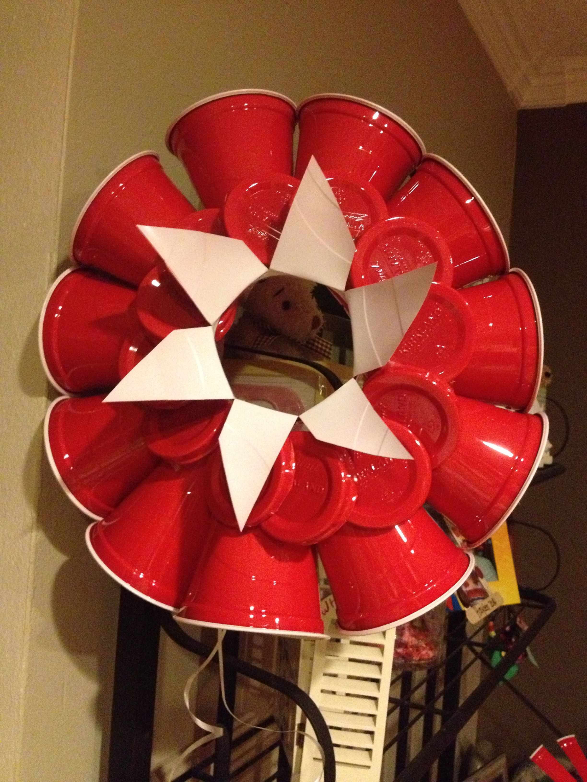 Red Solo Cup Wreath Red Solo Cup Party