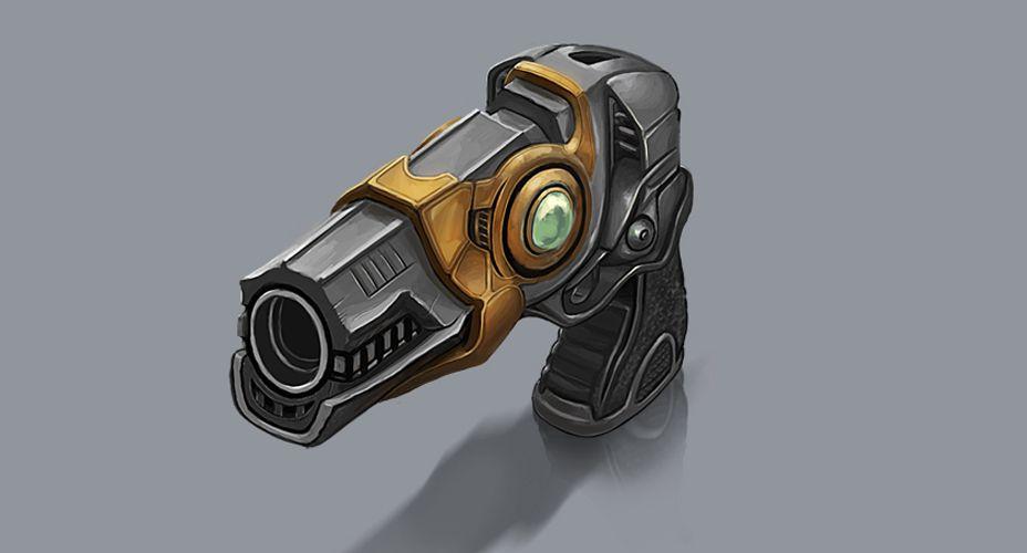 Weapon design, props, gun