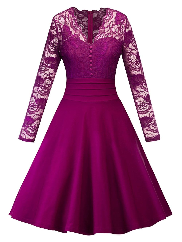 Vintage Lace Insert Pin Up Swing Dress | Chaquetas y Vestiditos