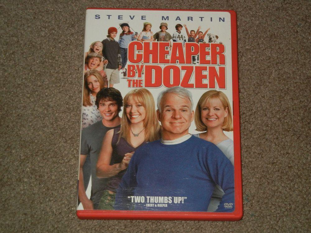 Cheaper by the Dozen (DVD, Movie, Comedy, Family, 2004, Widescreen, Full Screen)