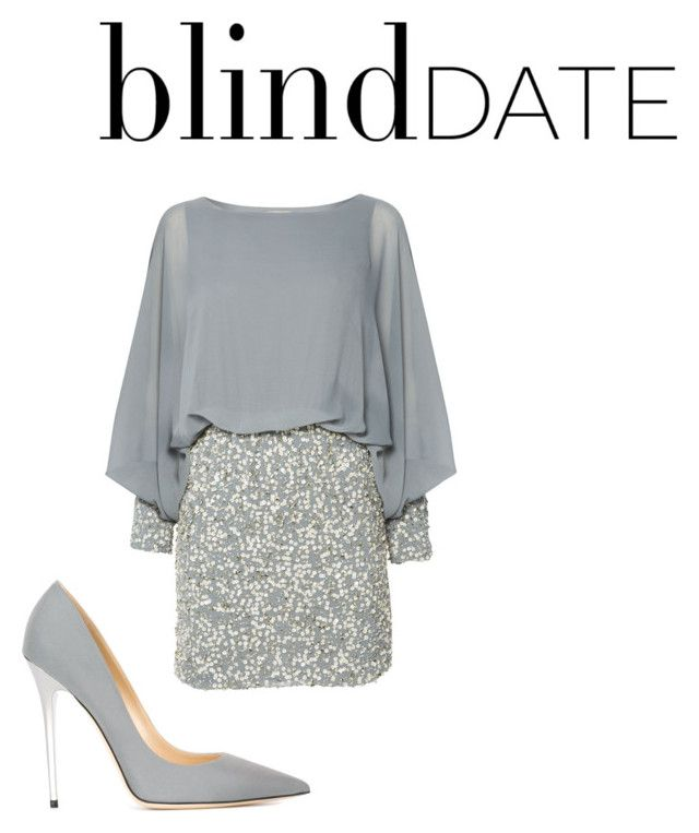 """""""Blind Date 3"""" by jarin73 ❤ liked on Polyvore featuring Lace & Beads, Jimmy Choo, women's clothing, women, female, woman, misses, juniors and blinddate"""