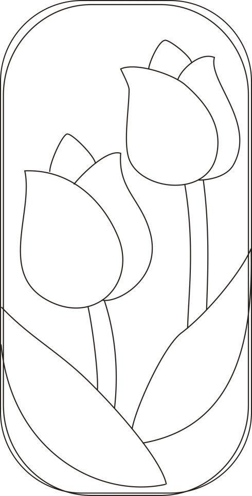 Reservado] 359 @ 365 tulipanes | Flor | Pinterest | Molde, Apliques ...
