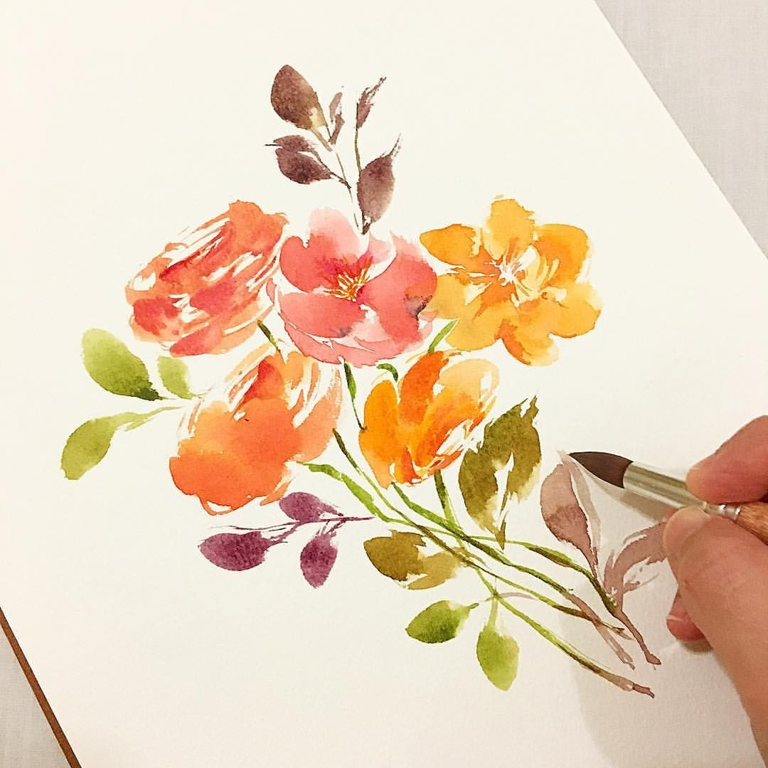 Image Result For Loose Floral Watercolor Watercolor Flowers