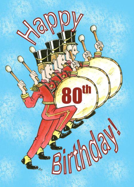 Happy 80th Birthday Card Ad AD