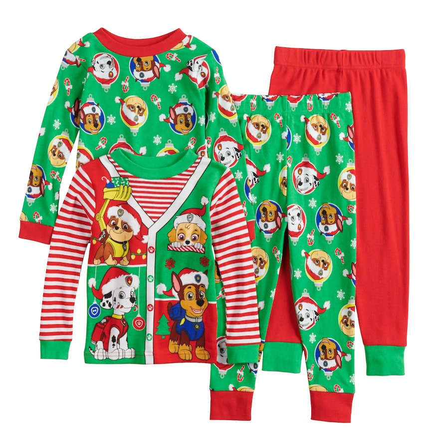 4a727a91c Toddler Boy Paw Patrol Chase, Rubble, Marshall & Skye Christmas Tops &  Bottoms Pajama Set, Size: 2T, Multicolor