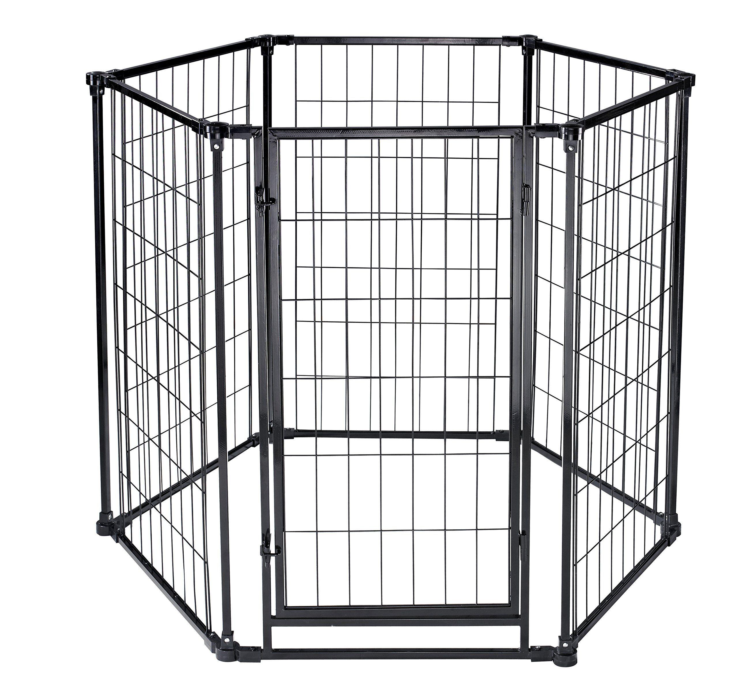 6 panels homey pet 3 in 1 playardwallmount gate