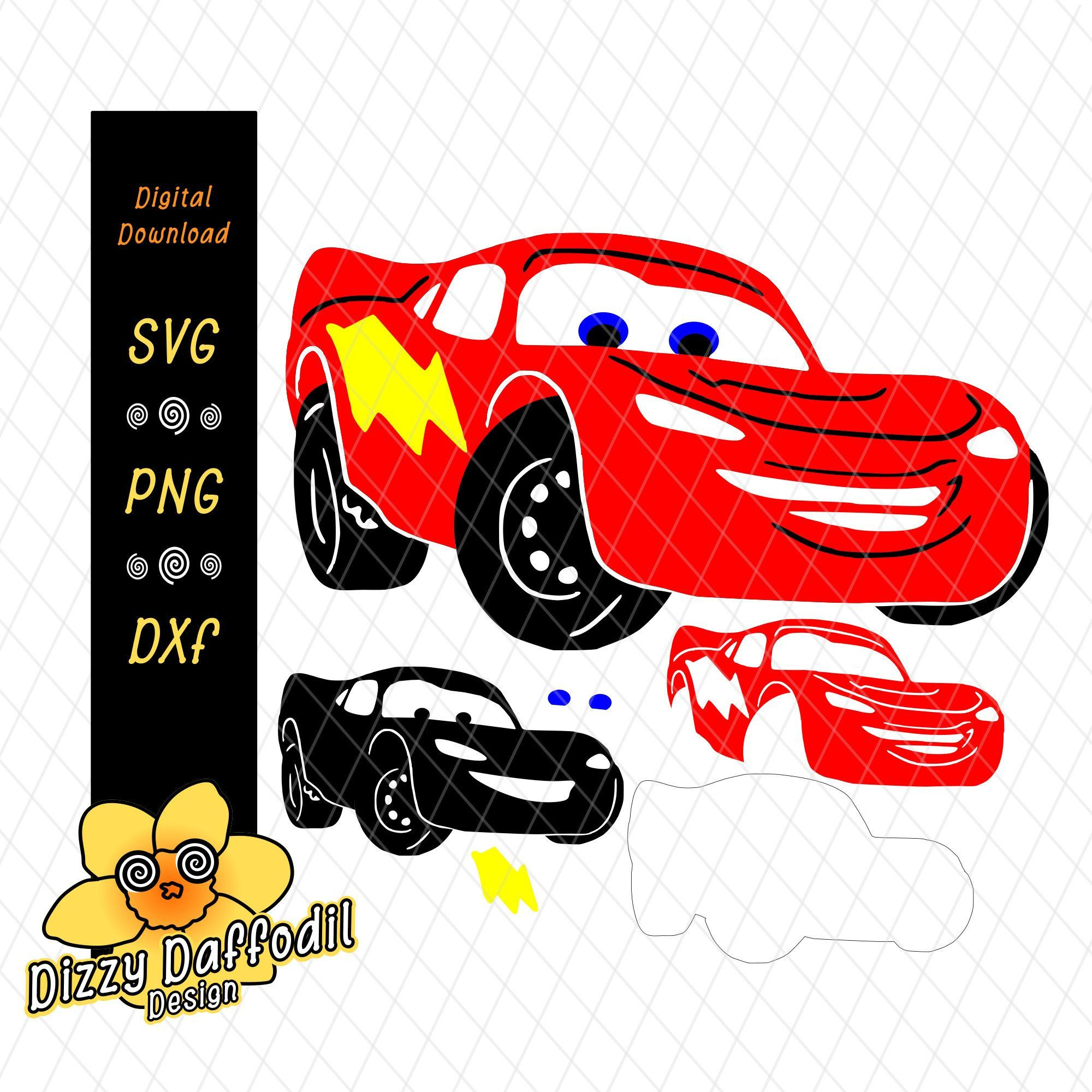 Race Car Svg Dxf Cars Lightning 95 Layered Svg Race Cars