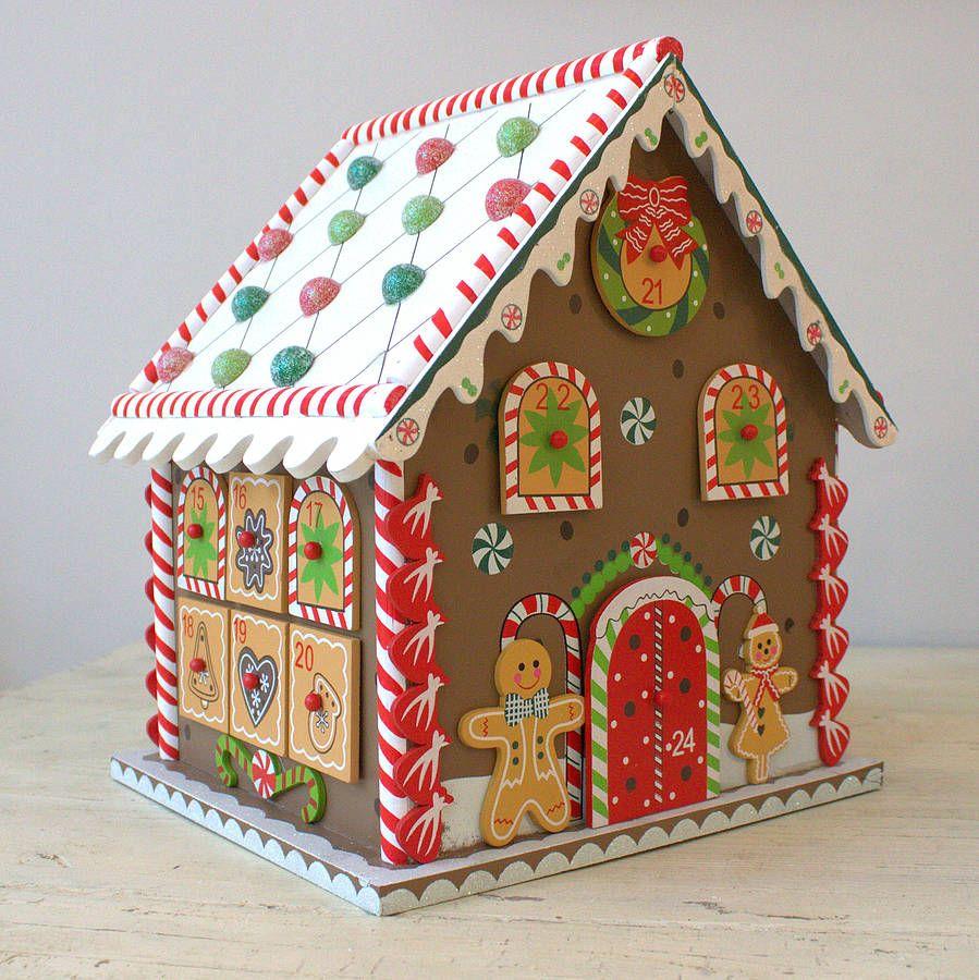 Christmas Gingerbread House Advent Calendar Cardboard Gingerbread House Christmas Gingerbread House Gingerbread House