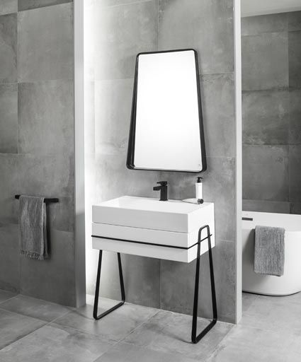 Cersaie 2015 pure and elegant bathrooms with Pure Line by Noken