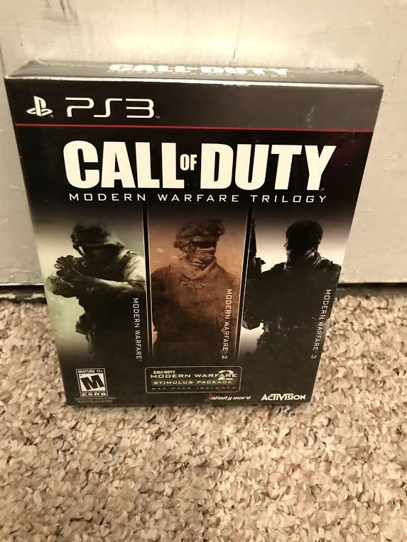 Call Of Duty Modern Warfare Trilogy For Playstation 3 Ps3 Brand New Call Of Duty Modern Warfare Warfare