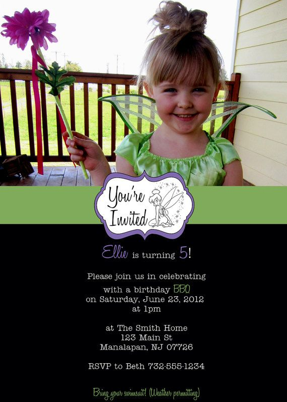 Tinkerbell photo birthday invitation do it yourself tinkerbell tinkerbell photo birthday invitation do it yourself by bbdesigns 1450 solutioingenieria Choice Image