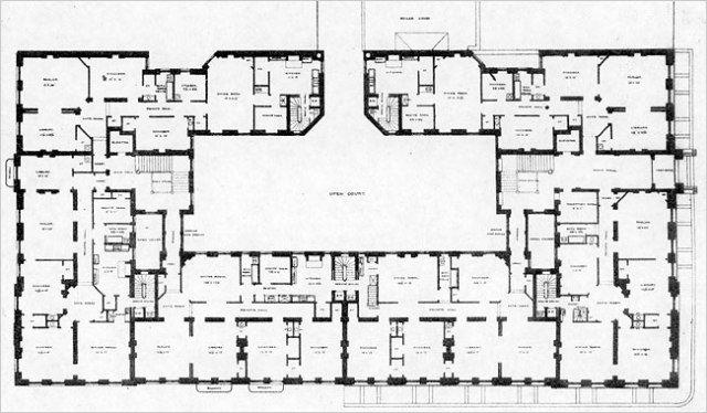 Origins and The Dakota Floor plans JG Courtyard house