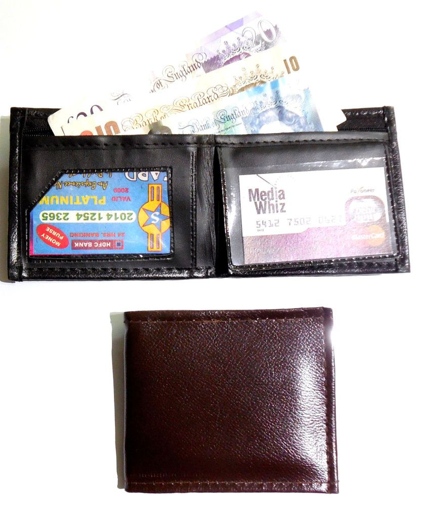 Budget mens gents wallet in black or brown with note pad