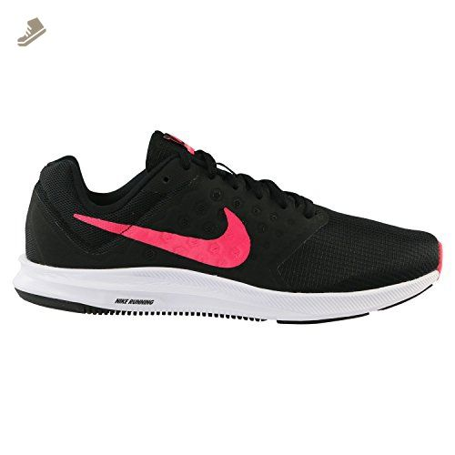 81f570cafb583 NIKE WOMENS WMNS NIKE DOWNSHIFTER 7 BLACK RACER PINK WHITE SIZE 10 ...