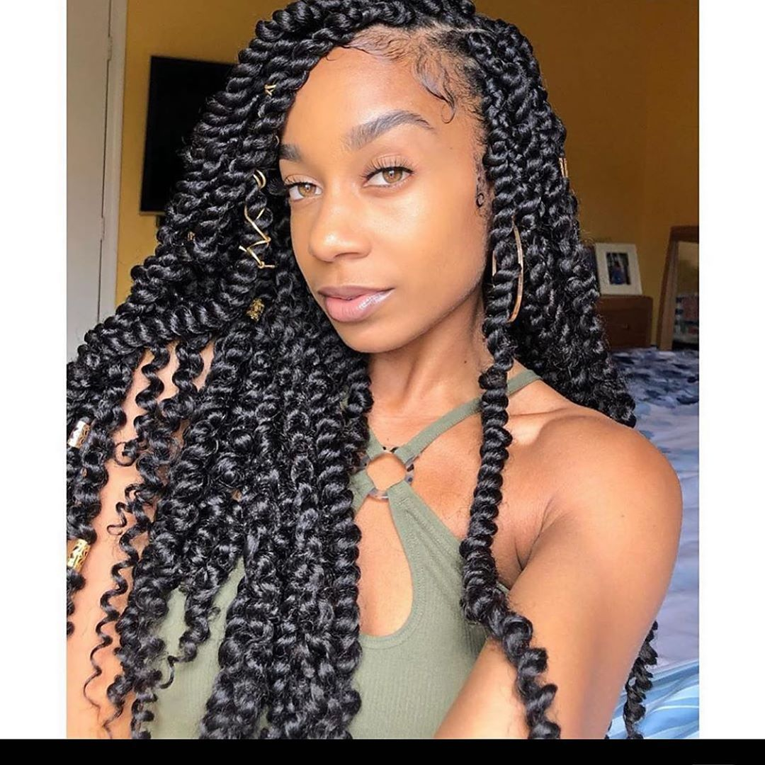 Elighty Passion Twist Hair Passiontwistshairstylelong 1 Hair Material 18 Inch Water Wave For Passion Twist Hair Waves Natural Hair Styles Natural Hair Types