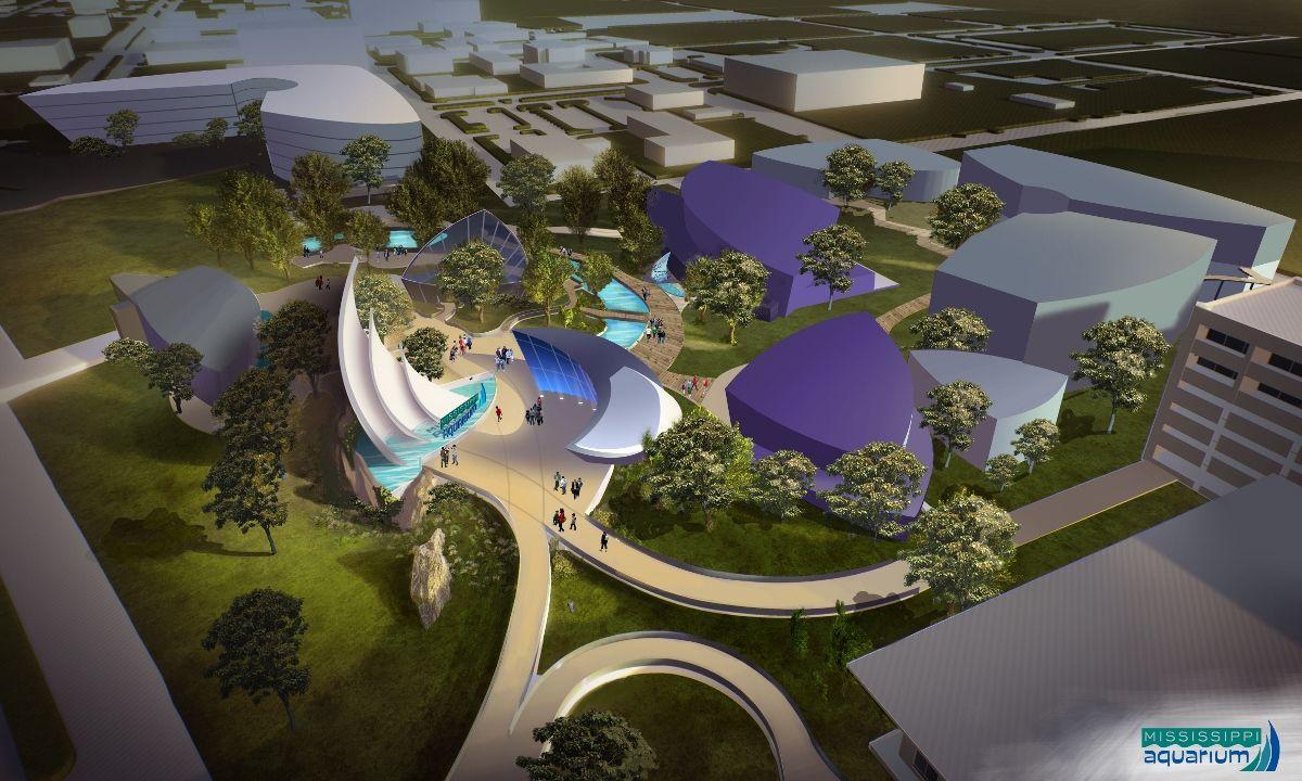 Concept Art For Mississippi Aquarium Gulfport Pgav Destinations