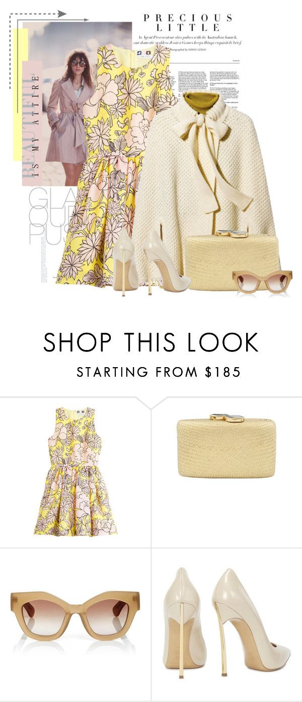 """Sem título #2368"" by bellerodrigues ❤ liked on Polyvore featuring Agent Provocateur, MSGM, Tsesay, Kayu, Jonathan Saunders and Casadei"