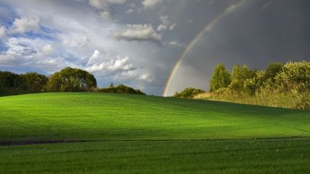 rainbow and rain clouds hd wallpapers wallpapers for