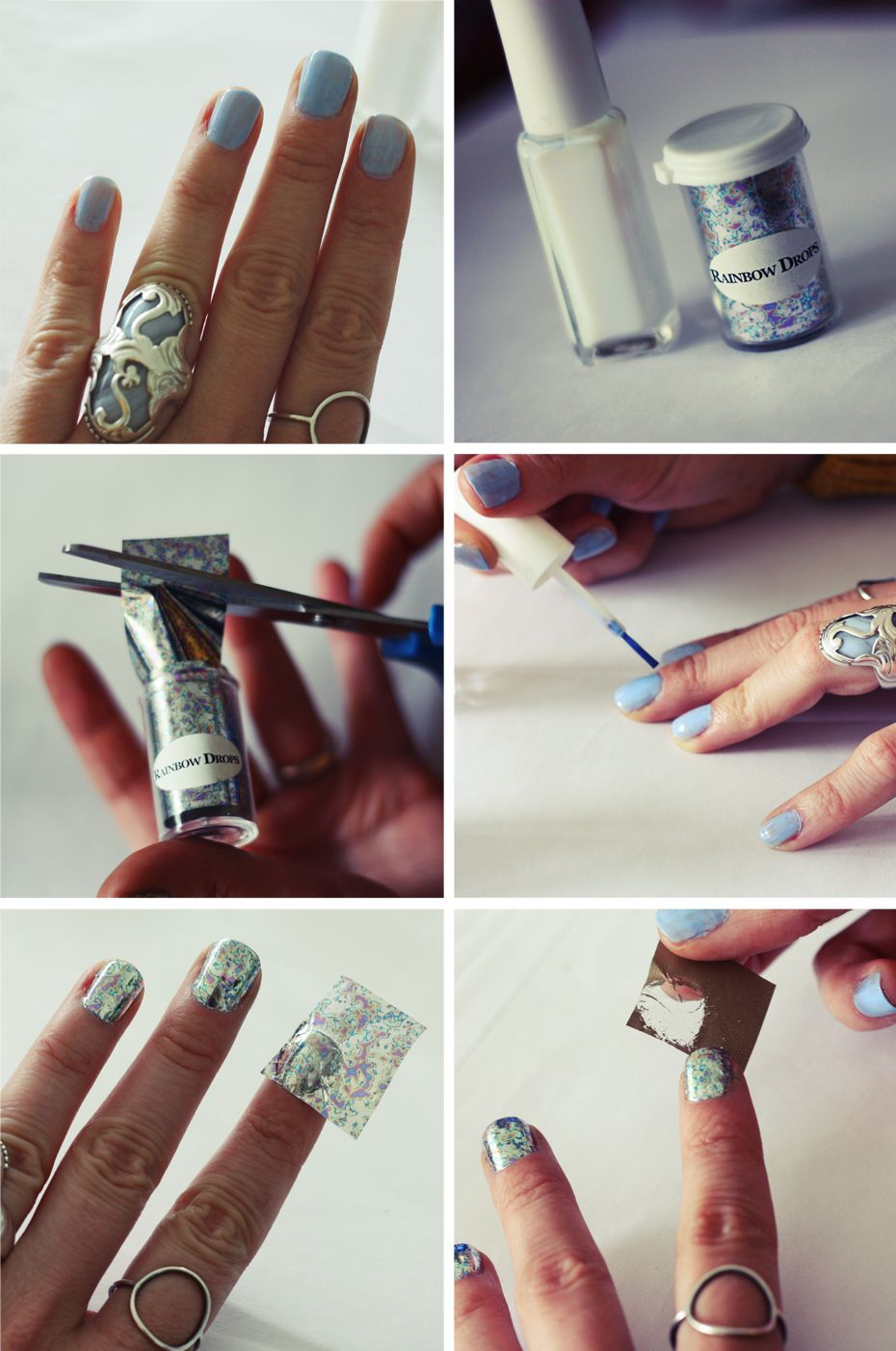 Nail Foil. I. AM. ADDICTED. Use with gel no-chip for long lasting ...