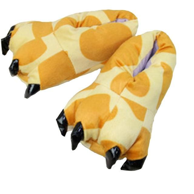 Photo of Unisex 11 Color Funny Animal Paw Monster Claw Soft Cotton Slippers – color 2 / 9
