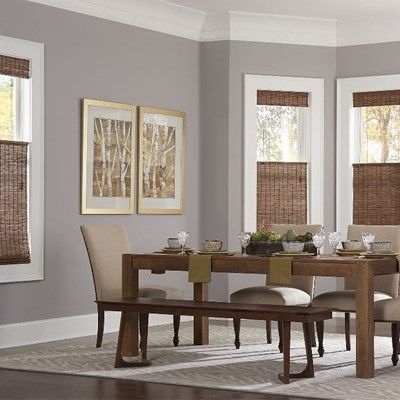 Dining Room Window Blinds Budget Woven Wood Shade  Budgeting Woods And Window